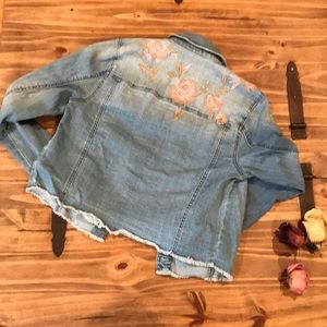Mossimo Supply Co. Jackets & Coats - Embroidered Roses Jacket